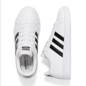Adidas Cloudfoam Advantage Shoes White/ Black Sz 8